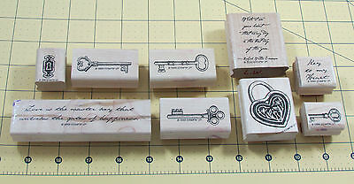 Stamping Up Key To My Heart Stamp Set 9 Lock Quotes Old Fashioned Keys