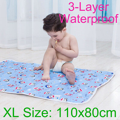 110x80cm Portable Baby Home Travel Urine Pad Changing Mat Nappy Cover Change Pad