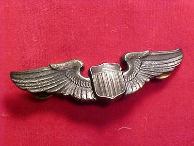 Original Wwii Usaaf Full Size Sterling Pilot Wings - Nice Details