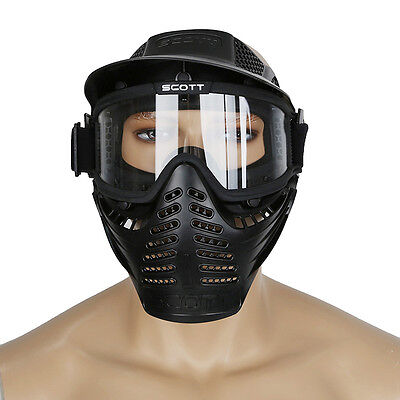Game Hunting Airsoft Tactical Paintball Mask Face guard with Goggles Adjustable