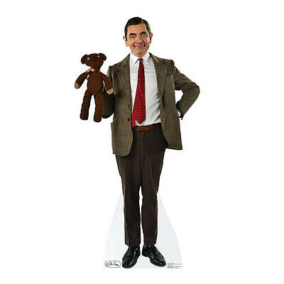 MR. BEAN WITH TEDDY Rowan Atkinson BBC CARDBOARD CUTOUT Standup Standee Poster