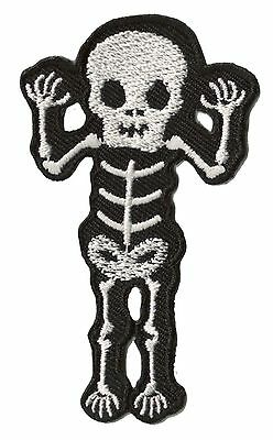 Patch écusson patche thermocollant Squelette Monster brodé