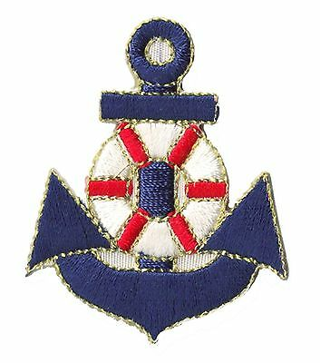 patch 1231- Ecusson brodé patche Marine Navy Ancre thermocollant
