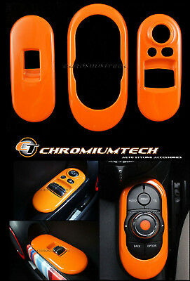 ORANGE Centre+Window Control Panel Cover for MK3 MINI Cooper/S/ONE F56 2DR Hatch