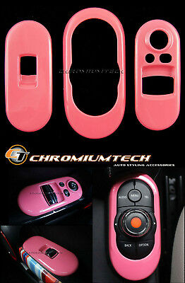 PINK Centre+ Window Control Panel Cover for MK3 MINI Cooper/S/ONE F56 2DR Hatch