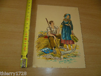(cpa 16)  CARTE POSTALE COSTUMES REGIONAUX  SIGNEE E. MAUDY ORLEANS