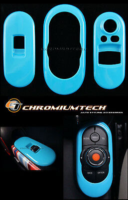 MINI Cooper/S/ONE F56 2DR Hatch BLUE Centre Control + Window Control Panel Cover