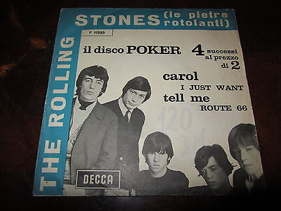 ROLLING STONES DISCO POKER Black Titles Variation 1964 Italy EP Very Rare