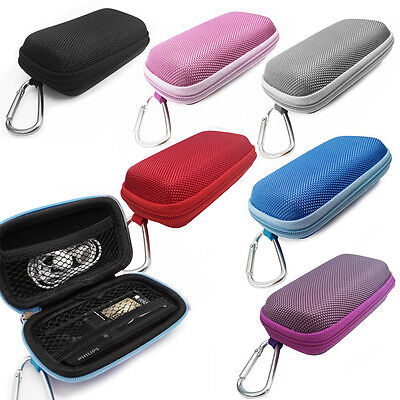 Durable Tough Hard Fabric MP3 Player cover Clamshell Case For Phillips GoGEAR