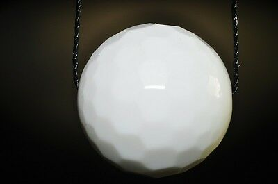 20mm Purity- Natural WHITE AGATE Faceted X-Large Round Pendant - L0810