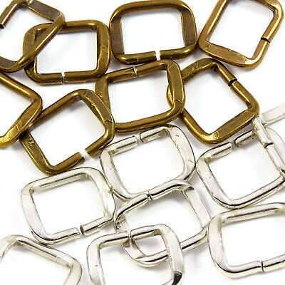 20mm 3/4 in Brass Metal Loop Buckle for Strap Bag Making Leathercraft (M010)