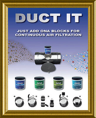 Ona Air Filter Inline Duct Block Holder For Odour Control Hydroponics - Original