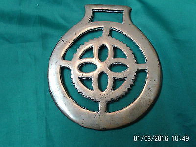 Antique Horse Brass: Unusual Geometric Shapes inc Serated inner Four Petals