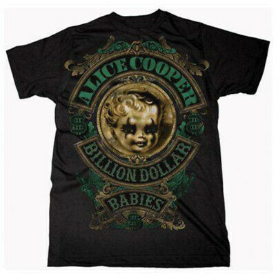 Alice Cooper 'Billion Dollar Baby Crest' T-Shirt - NEW & OFFICIAL!