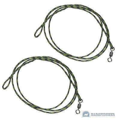 2 Stk. LEAD CORE LEADER WITH SWIVEL, KARPFEN MONTAGE, KARPFENANGELN, CARPFISHING