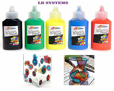 New glass painting kit still sealed arts and craft for Fast drying craft paint