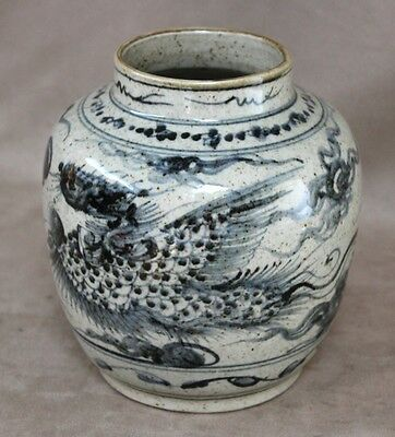"17th Century ""Phoenix Birds"" Jar / Vase, China, Late Ming Dynasty Mark & Period"