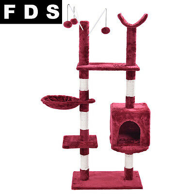 FDS 153CM Cat Tree Tower Condo Furniture Scratching Post Pet Kitty Play House