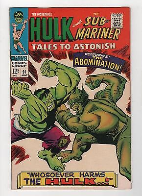 Tales To Astonish 91 Abomination 1st Cover VF+