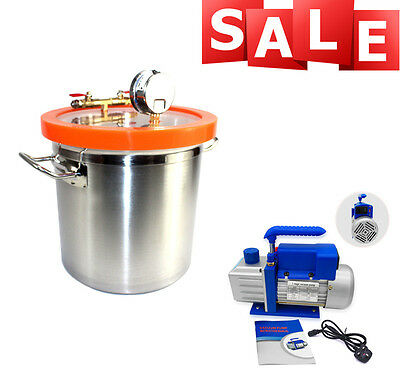 12L Heated Vacuum Chamber 3.5CFM Air Conditioning Refrigeration 1 year warranty