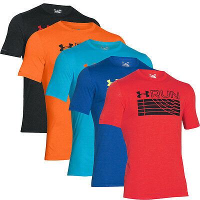Under Armour 2016 Run Piste Charged Cotton T-shirt Hommes SS Formation Sport Tee