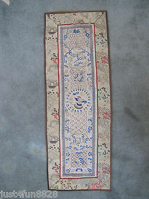 Antique Early 20th Century Chinese Silk Embroidery Embroidered Panel.
