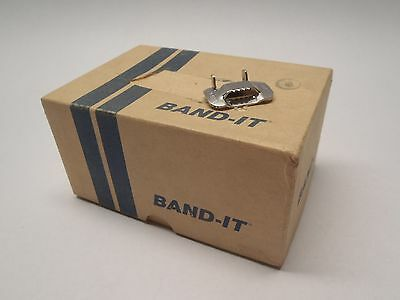 "New Band-It 1/2"" Ear-Lokt C454 SS Banding Buckles. Box of 100. Made in USA"