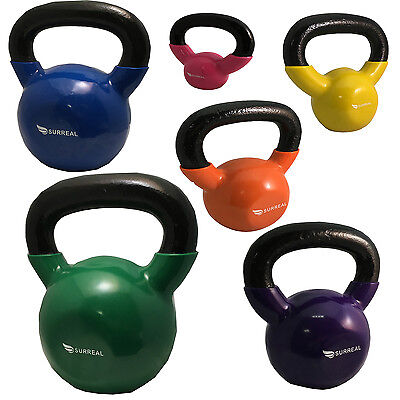 2/4/6/8/10/12/16/20/24/30 KG Vinyl Kettlebell Body Tone Fitness Strength Gym