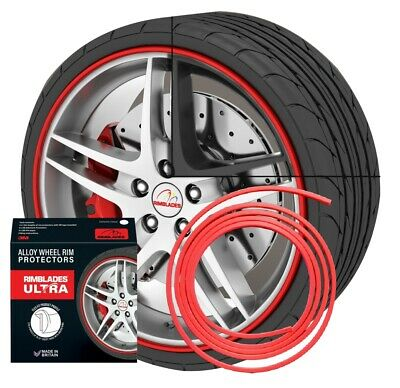 NEW - Rimblades with 3M glue - colour: red - Premium rim protection and styling