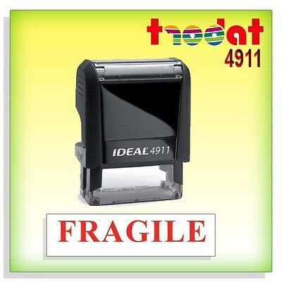 FRAGILE - Office Stock Self-Inking Rubber Stamp RED TRODAT 4911 / Ideal 50