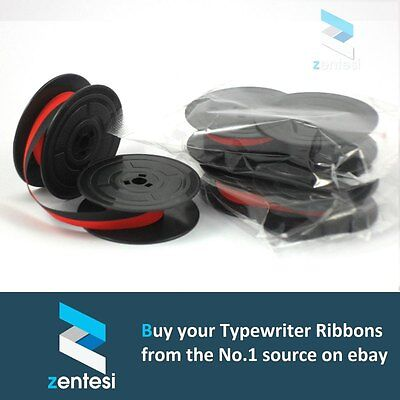 3 x OLIVETTI LETTERA DL Typewriter Ribbon - Red/Black or Plain Black