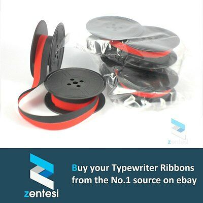 3 x Silver Reed Silverette I & II Typewriter Ribbon - Red/Black or Plain Black