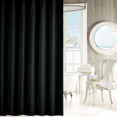 Solid black shower curtain 2m new free shipping