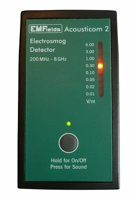 Acousticom 2 Radio Frequency (RF) Meter - Simplicity Without Compromise
