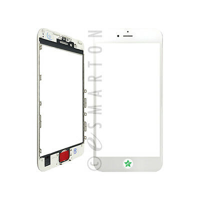 """Touch Screen Lens Glass with Frame White Replacement Part For iPhone 6S 4.7"""" USA"""