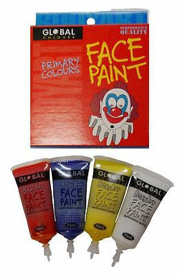 Global Body Art 15ml Pack - Primary Makeup Fancy Dress Party Accessories
