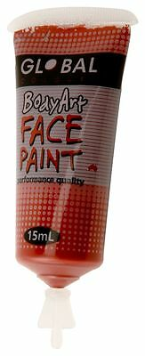 Body Art 15ml Tube - BROWN Makeup Fancy Dress Party Accessories