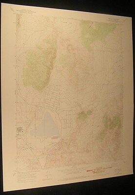 Reno NE Nevada Hungry Valley Sandpit 1976 vintage USGS original Topo chart map