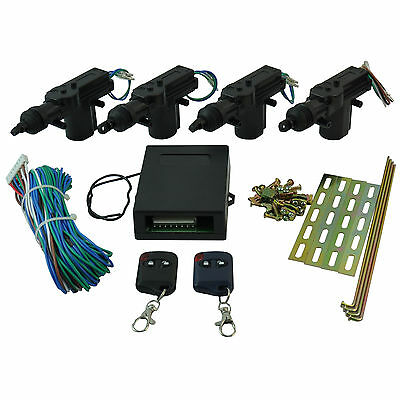 Car Central Lock Locking Security System Remote Control Keyless Entry 4 Door Kit