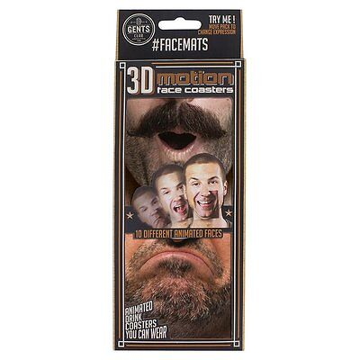 Face Mats 20 Double-Sided Hilarious Beer Mats Coasters Wear On Nose Party Game
