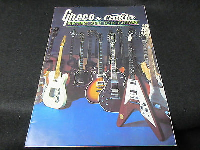 Greco Canda Electric Folk Guitar Japan Catalog 1973 Fujigen EG SA SE TL Models