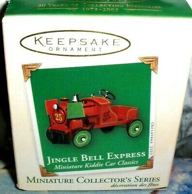 Jingle Bell Express`2003`Miniature-9Th  Kiddie Car Series`Hallmark Ornament->New
