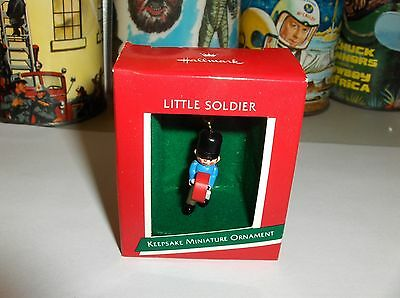 This Little Drummer Is A Soldier`1989`Miniature-Hallmark Christmas Ornament