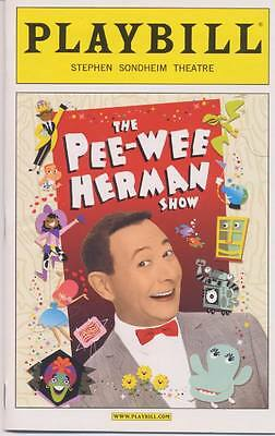 PEE-WEE HERMAN SHOW  ON BROADWAY Playbill OPENING NIGHT [MINT]