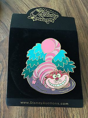 Disney Auctions Cheshire Cat Jumbo Spinner LE 500 Pin NEW ON CARD VHTF