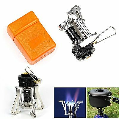 Ultralight Mini Backpacking Canister Camp Camping Stove Burner Piezo Ignition AE