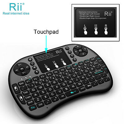 Rii i8+ black mini Keyboard with touchpad back light for smart TV PC from AU