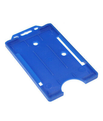 Blue Vertical Double Sided ID Card  Badge Holder Holds - Buy 2 get 3!