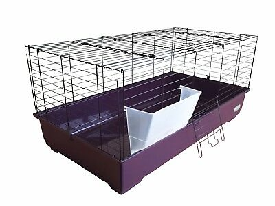 Heritage Purple Rabbit Cage Cavie 80cm Indoor Guinea Pig Ferret Rodent Hutch