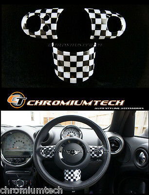 MINI Cooper/S/ONE Chequered Flag MF Steering Wheel Cover R56 R57 R55 R60 R61
